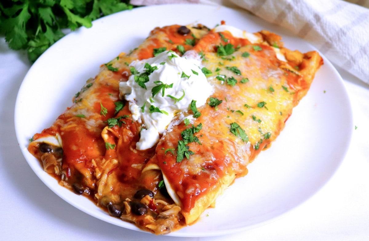 Enchiladas on Plate