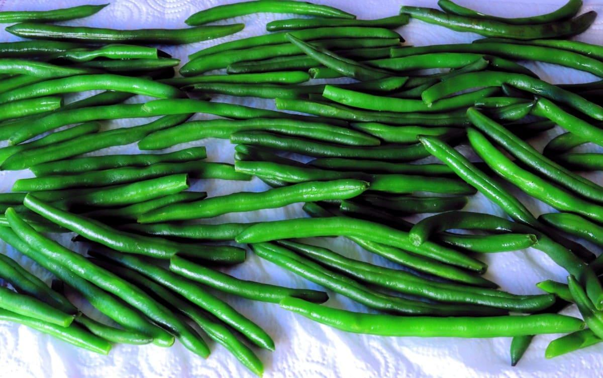 Drying Green Beans