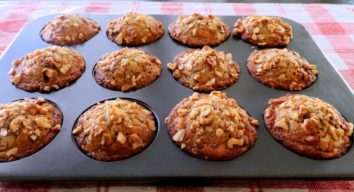 Banana Nut Muffins Baked