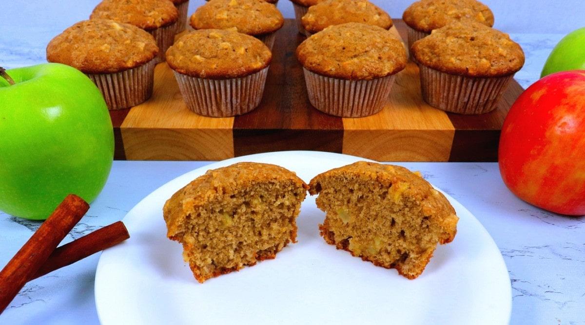 Muffin Cut in Half