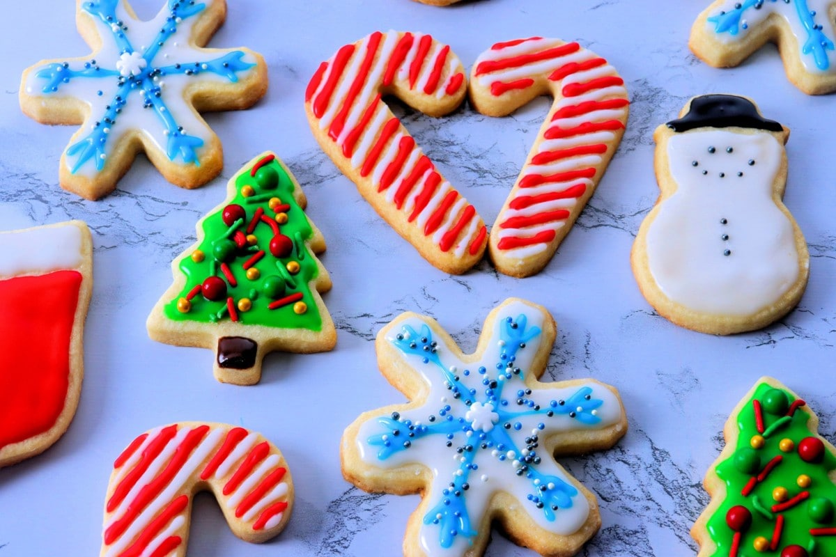 Cut-Out Sugar Cookies for Christmas