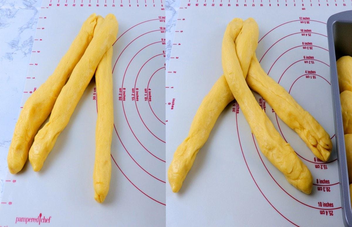 How to Braid Brioche Dough