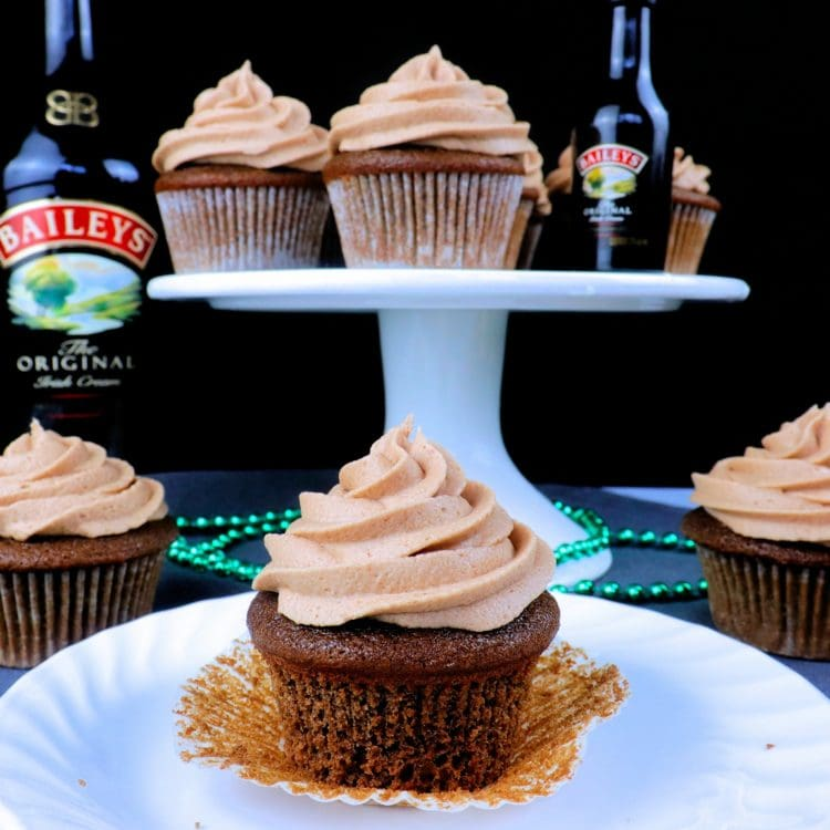 Bailey's and Coffee Cupcakes with Bailey's Buttercream Frosting