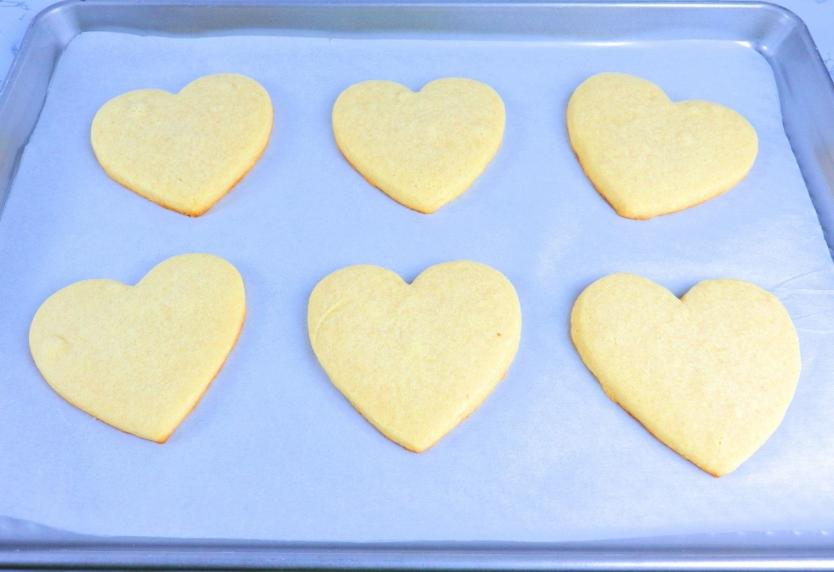 Baked Heart-Shaped Cookies