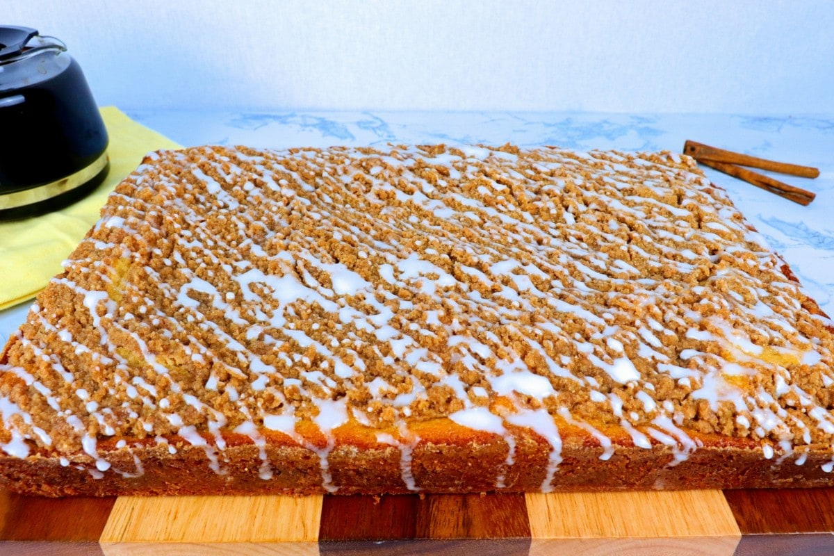 Coffee Cake with Vanilla Glaze