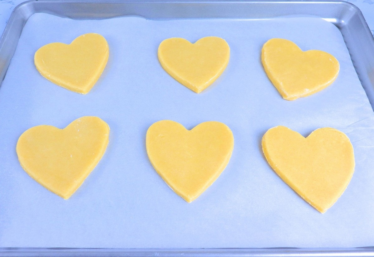 Pre-Baked Heart-Shaped Cookies