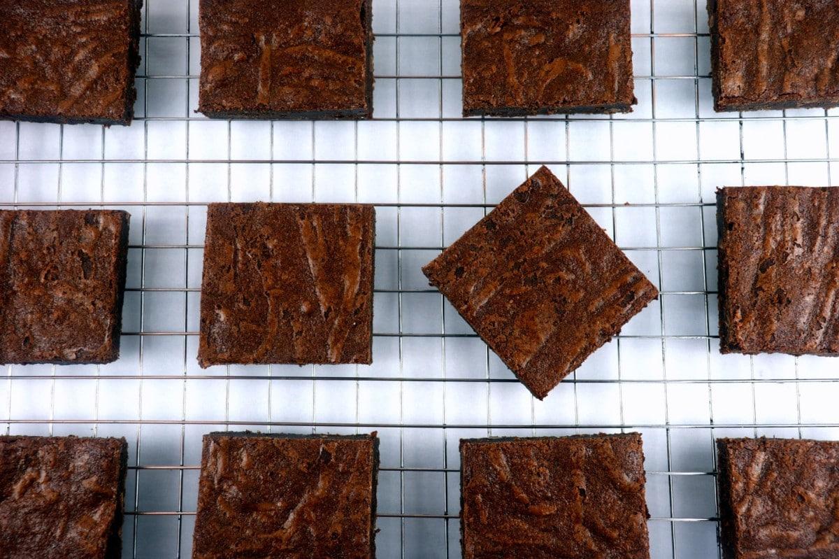 Brownies on Cooling Rack