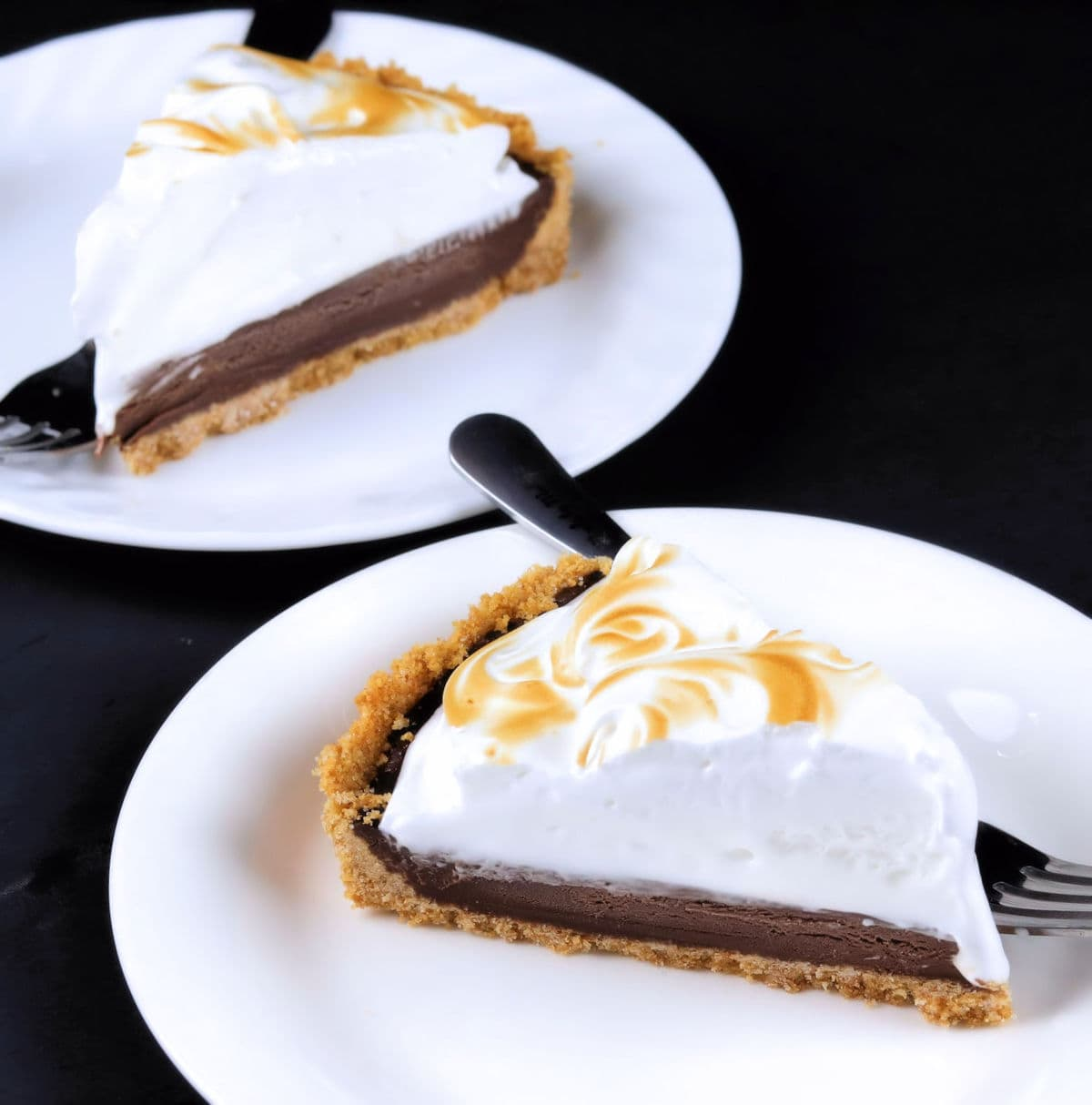 Slices of S'mores Pie