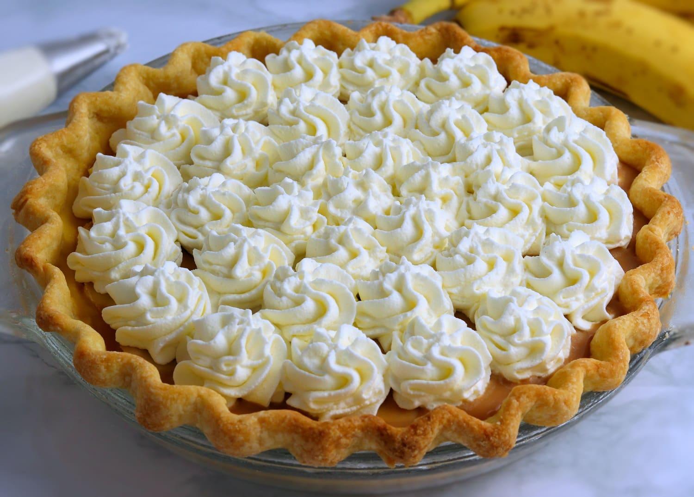 Banana Cream Pie with Whipped Cream Full