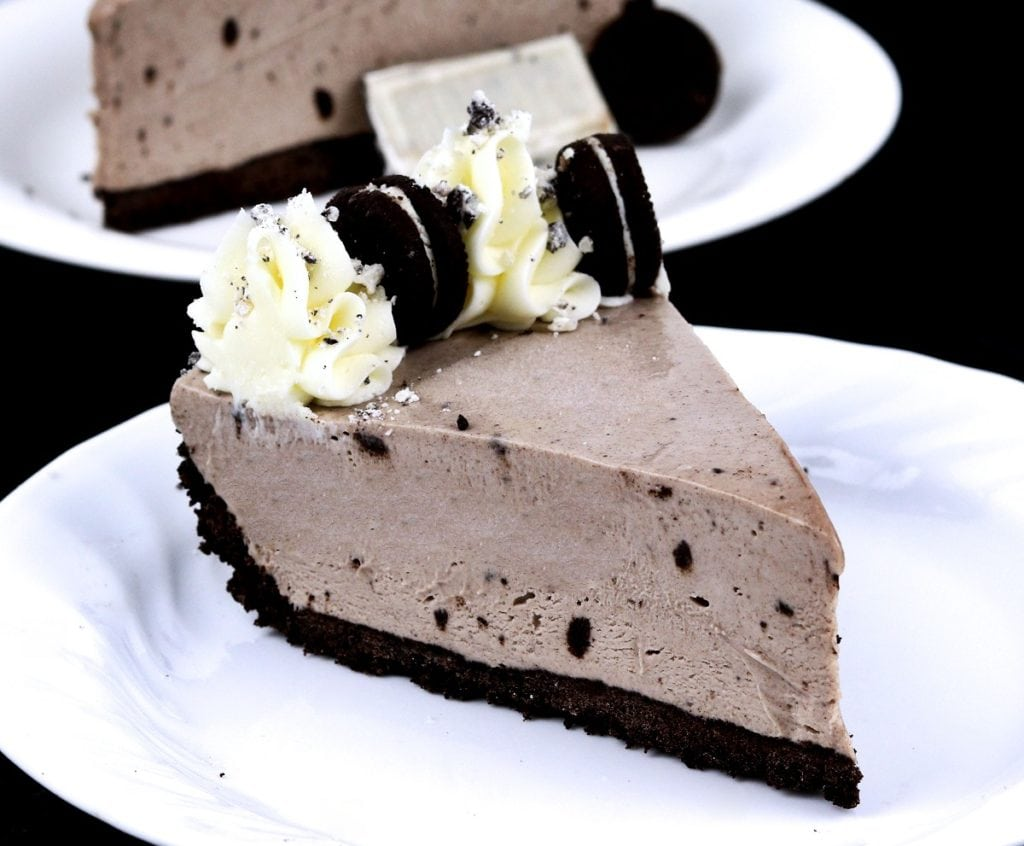 Oreo Cheesecake with Mini Oreos and Whipped Cream