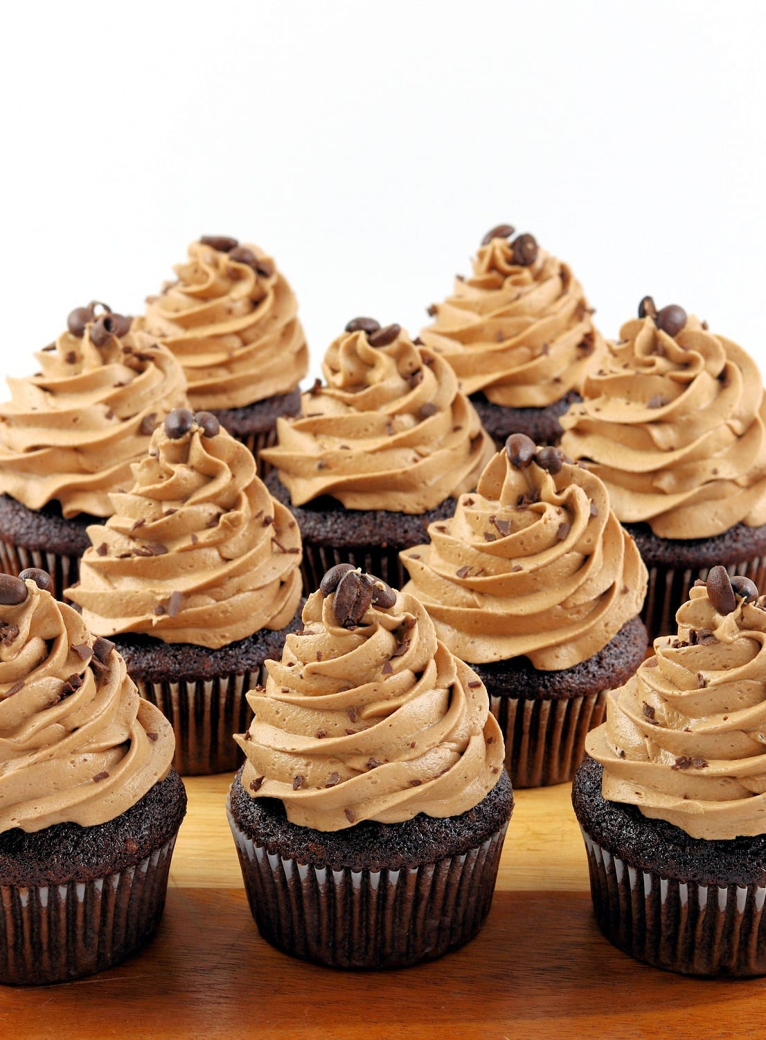 Chocolate and Espresso Cupcakes with Mocha Buttercream