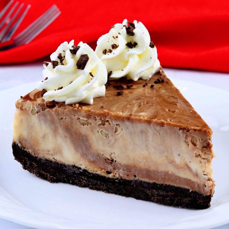 Marble Cheesecake Slice